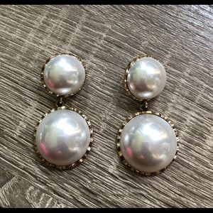 Large Faux Pearl fashion earrings